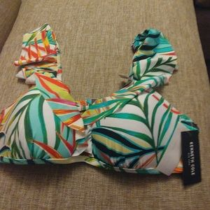 Kenneth Cole Push Up Bathing Suit Top 38B/C NWT
